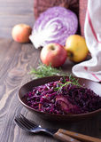 Spicy red cabbage stewed with apples and blackcurrant Stock Photography