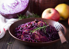 Spicy red cabbage stewed with apples and blackcurrant Royalty Free Stock Image