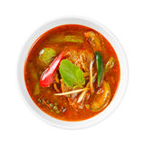 Spicy red curry with pork Stock Images