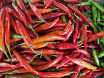 Spicy red and green in market. Spicy red and green in  for artwork Stock Photo