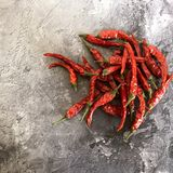 Spicy, red, hot chili peppers. stock photos