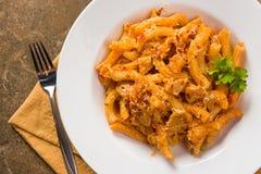 Spicy Red Pepper Chicken Torchietti Stock Image