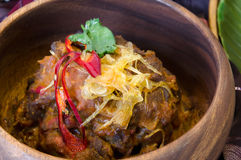 Spicy rendang oxtail Royalty Free Stock Images