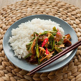 Spicy rice with  stir fry Royalty Free Stock Image