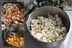 Spicy Roasted Cauliflower Dish Royalty Free Stock Image