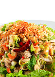 Spicy salad. Thai food,Ingredients is meat with vegetables and sauce Royalty Free Stock Photos
