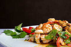 Spicy salad hot and sour. Thai food. Royalty Free Stock Photos