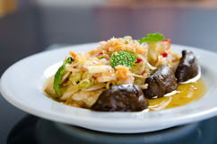 Spicy salad of mushroom Royalty Free Stock Image