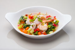 SPICY SALAD WITH SHRIMPS Stock Photo
