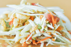 Spicy salad,Som Tam or Thai spicy salad. Dish Royalty Free Stock Photo