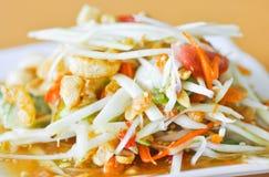 Spicy salad ,Thai salad with crispy pork Royalty Free Stock Image