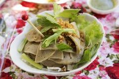 Spicy salad with vietnamese pork ham Stock Photography