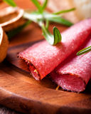Spicy Salami with Rosemary Royalty Free Stock Photo
