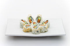 Spicy salmon and cucumber maky Royalty Free Stock Photography