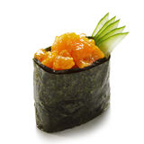 Spicy Salmon Gunkan Stock Photo