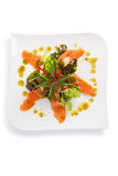 Spicy salmon salad Royalty Free Stock Images