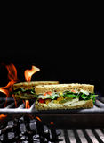 Spicy Sandwich Royalty Free Stock Photos