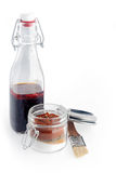 Spicy Sauce and Powders on Glass Containers Stock Image