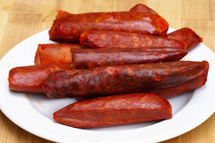 Spicy sausage Royalty Free Stock Image