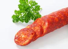 Spicy sausage Stock Image