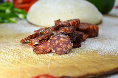 Spicy sausage Stock Images