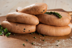 Spicy sausages Royalty Free Stock Photos
