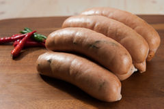 Spicy sausages Royalty Free Stock Photo