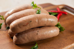 Spicy sausages Royalty Free Stock Images