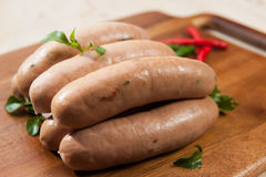 Spicy sausages Stock Photo