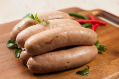 Spicy sausages Stock Photography