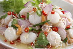 Spicy scallop salad Royalty Free Stock Photo