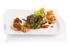 Spicy scallops Stock Photography
