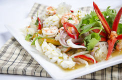 Spicy seafood Stock Images