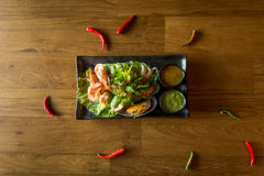 Spicy seafood combination Royalty Free Stock Image