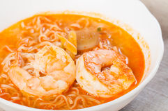 Spicy seafood noodles Stock Photography