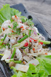 Spicy seafood salad Royalty Free Stock Image