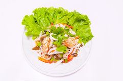 Spicy seafood salad hot and sour Royalty Free Stock Images