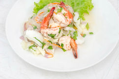 Spicy seafood salad Stock Image