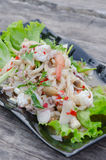 Spicy seafood salad Royalty Free Stock Photos