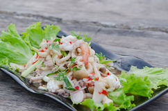 Spicy seafood salad Royalty Free Stock Photography