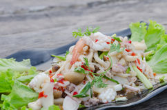 Spicy seafood salad Stock Photo