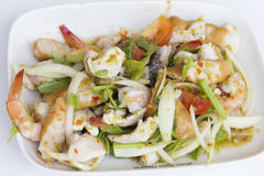 Thai seafood salad Stock Photography