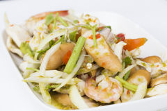 Thai seafood salad Royalty Free Stock Photos