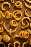 Spicy Seasoned Curly Fries Royalty Free Stock Photo