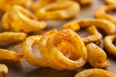 Spicy Seasoned Curly Fries Stock Photography