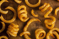 Spicy Seasoned Curly Fries Stock Photos