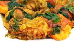Spicy shrimp curry Stock Photo