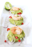 Spicy Shrimp Guacamole Stock Photography