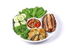 Spicy shrimp paste dip as Nam Prik Kapi Royalty Free Stock Photos