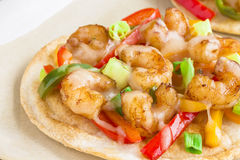 Spicy Shrimp Pizza Royalty Free Stock Photos